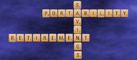 Scrabble Letters Portability Savings Retirement