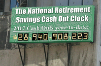 National Retierement Savings Cash Out Clock