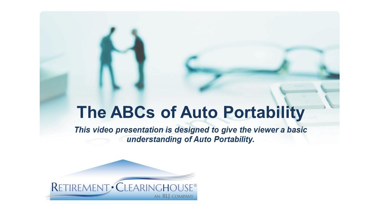 The ABCs of Auto Portability