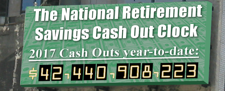 National Retirement Savings Cashout Clock