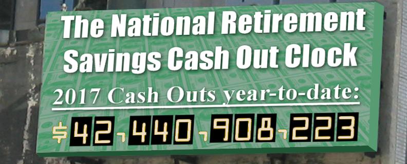 National Retirement Savings Cashout Clock