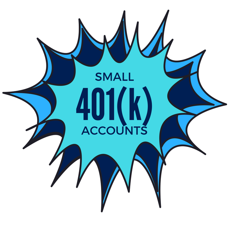 Small 401K Account Problems