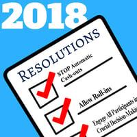 Three 2018 Resolutions