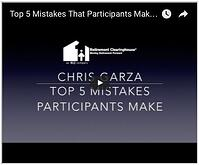 Chris Garza Top 5 Mistakes Participants Make
