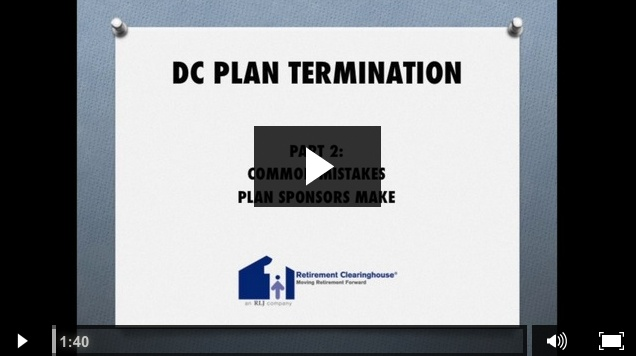 Mike Wilder DC Plan Terminations Part 2 Video Series